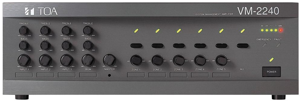 Bộ thông báo 5 vùng 120W: TOA VM-2120