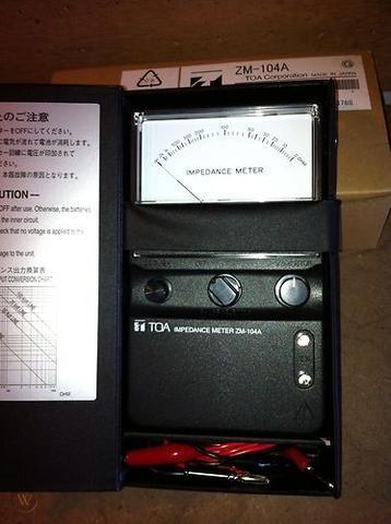 Đồng hồ đo trở kháng LOA: TOA ZM-104A