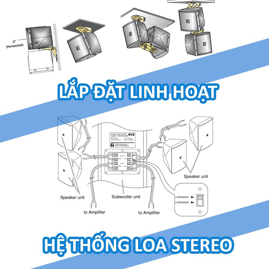 Hệ thống loa vệ tinh:TOA BS-301B
