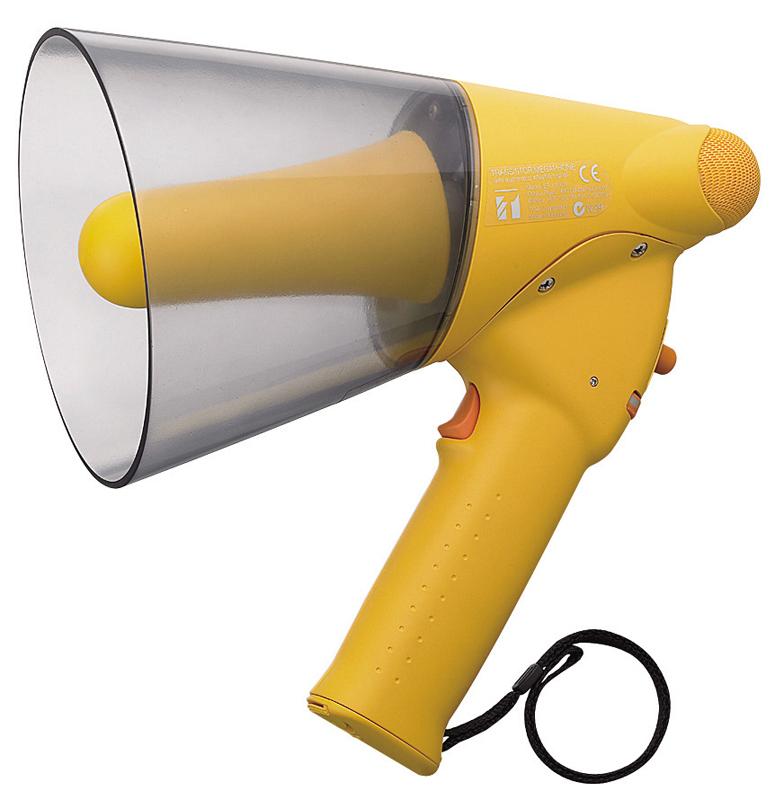 Megaphone cầm tay chống nước, còi hú: TOA ER-1206W (Tối đa 10W)
