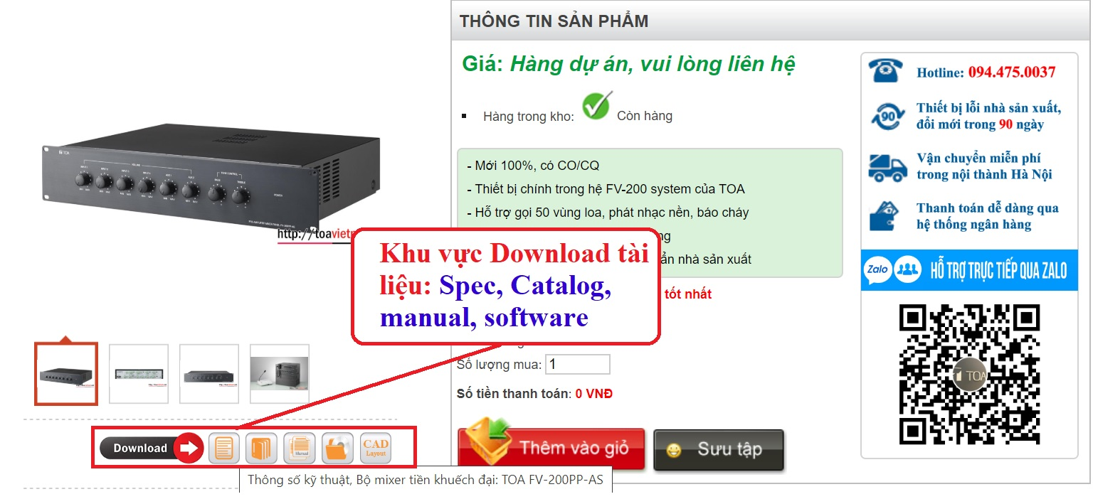 Huong dan load tai lieu TOA