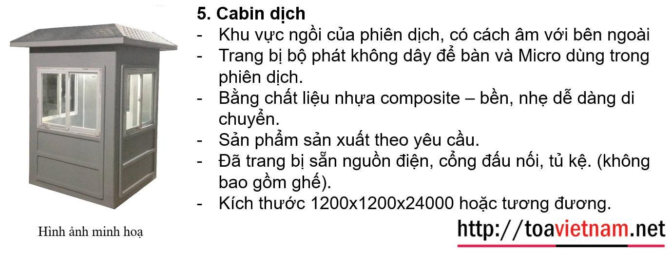 Cabin dịch đa ngôn ngữ