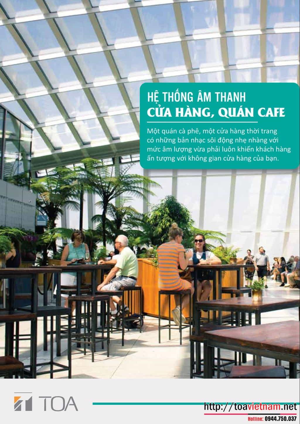 Mô hình âm thanh quán cafe phổ biến