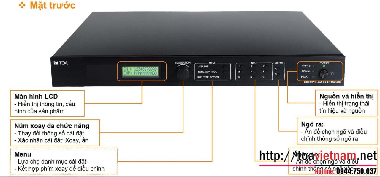 MX-9200-AS: Mixer mới với điều khiển APP điện thoại