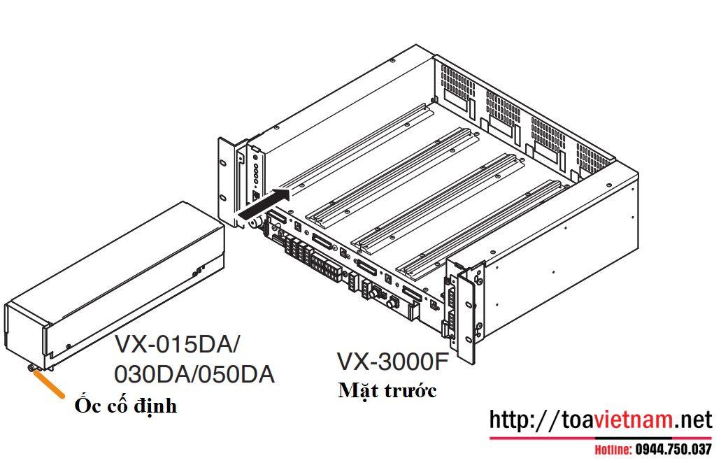 Lắp tăng âm cho VX-3000