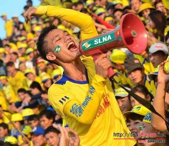 Loa cổ động, cổ vũ bóng đá dành cho fan cuồng nhiệt