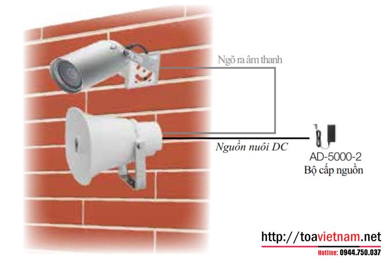SC-P620-AS: Loa nén thông báo cho camera và hệ thống CCTV