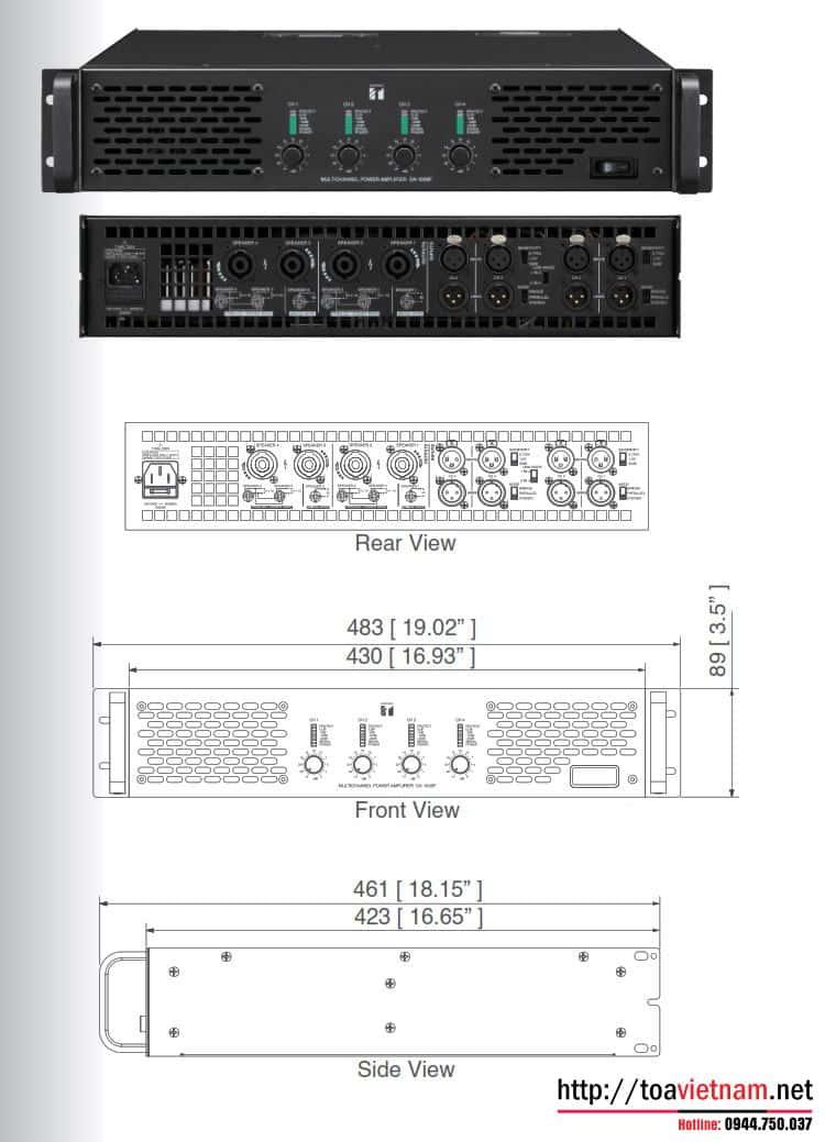 Tăng âm số đa kênh DA-1000F-AS và DA-1250D-AS