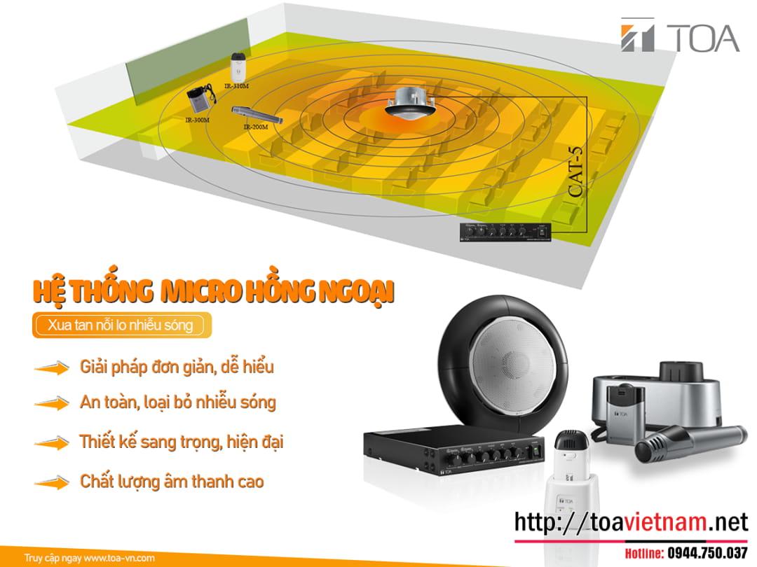 Âm thanh Phòng Học - Hệ thống không dây hồng ngoại