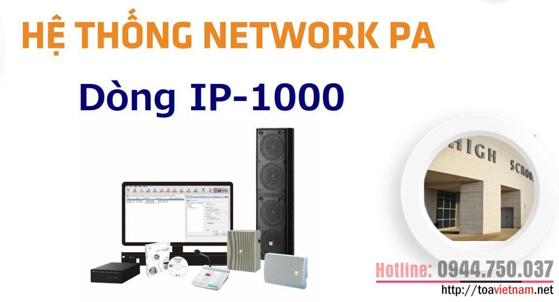 Sơ đồ tổng quan hệ thống âm thanh IP-1000
