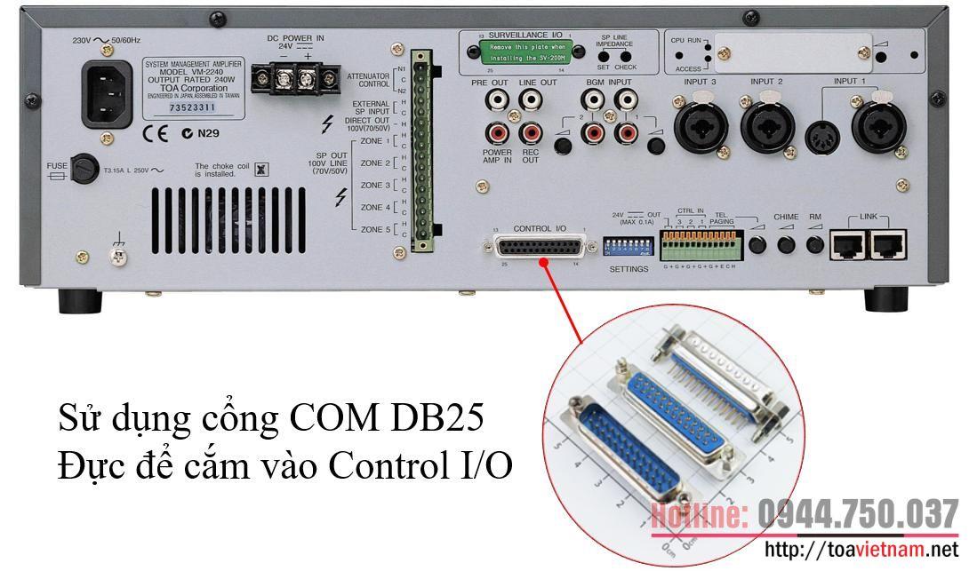 Hướng dẫn kết nối TT-104B, TT-208B-AS với VM-2120, VM-2240